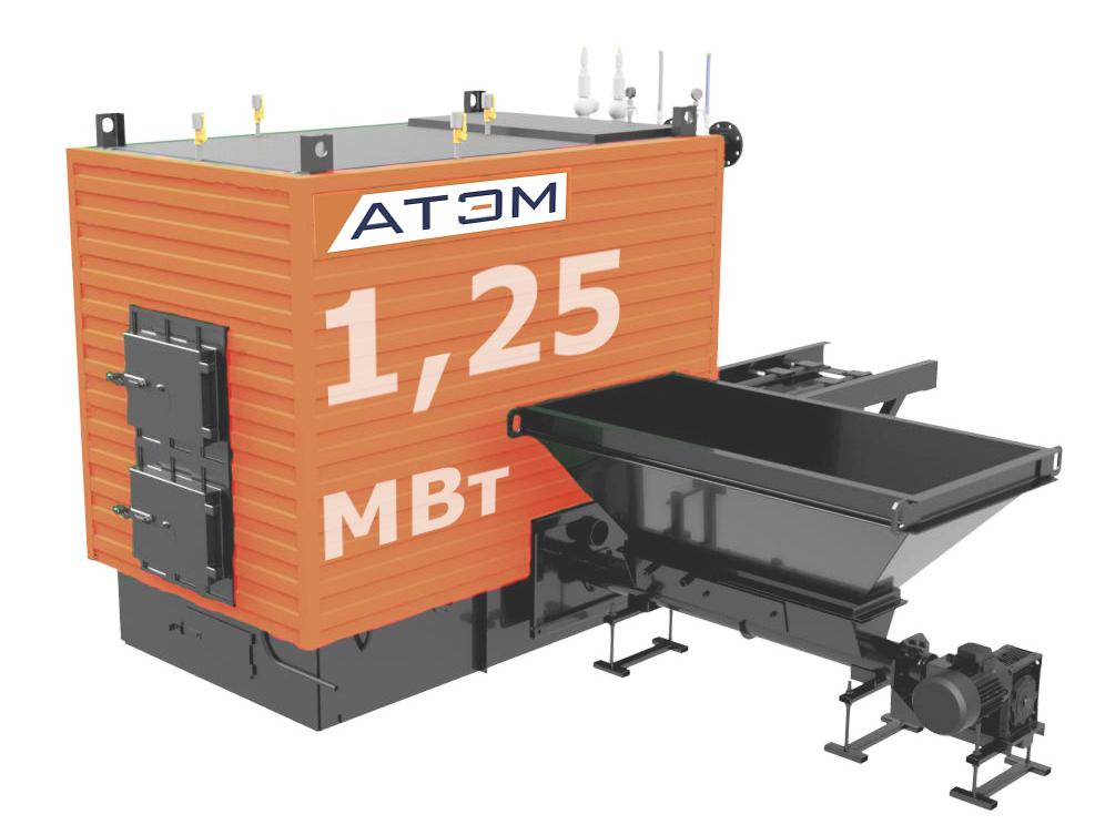 Водогрейный котел на лузге GB-1250m (КВ-1,25Л)