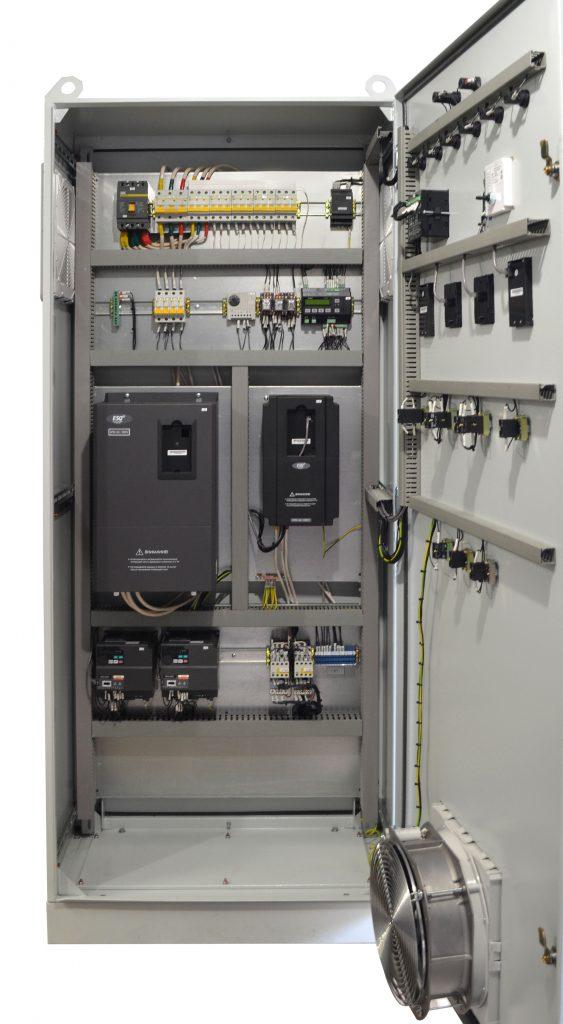 Шкаф управления котлом на лузге