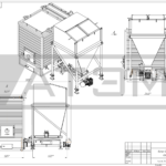Чертеж общего вида водогрейного котла на лузге GB-0,3m (КВ-0,7Л)