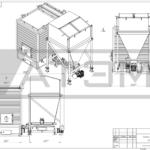 Чертеж общего вида водогрейного котла на лузге GB-0,3m (КВ-0,8Л)