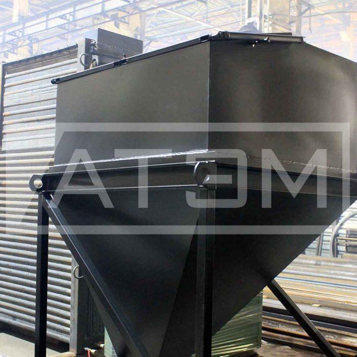 Бункер топлива для механизированного водогрейного котла на лузге серии GB-m (КВ-Л)