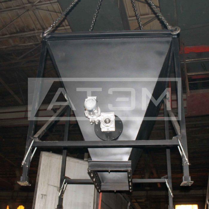 Бункер топлива с ворошителем для водогрейного котла на лузге